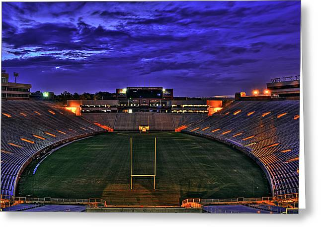 Noles Greeting Cards - Ominous Stadium v2 Greeting Card by Alex Owen