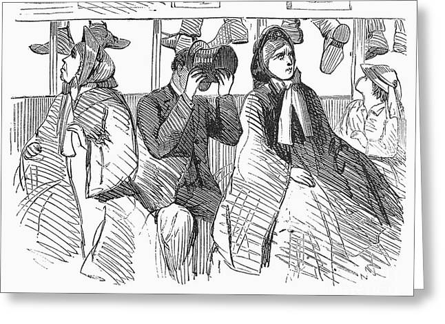 Omnibus Greeting Cards - Omnibus Nuisance, 1863 Greeting Card by Granger