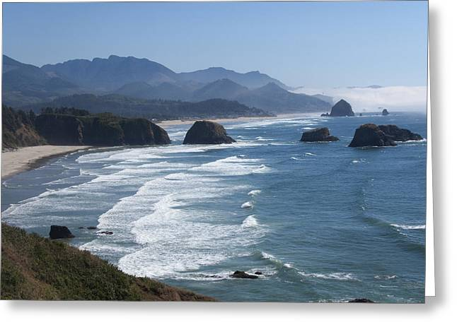 Beach Vista Greeting Cards - On a clear day... Greeting Card by Elvira Butler