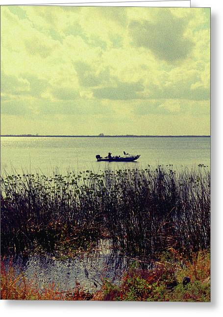 Boats In Water Photographs Greeting Cards - On a sunny Sunday afternoon Greeting Card by Susanne Van Hulst