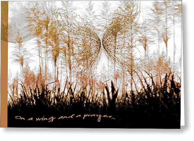 Surreal Landscape Greeting Cards - On a Wing and a Prayer Greeting Card by Holly Kempe