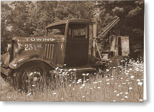 Tow Greeting Cards - On Break Greeting Card by Catherine Reusch  Daley