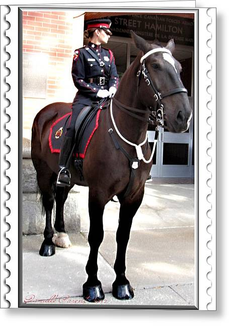 Policewoman Greeting Cards - On Duty Officers Greeting Card by Danielle  Parent