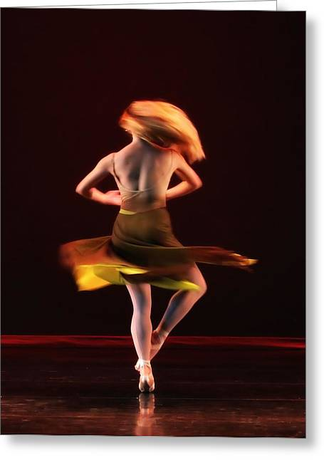 Ballet Dancers Photographs Greeting Cards - On Fire Greeting Card by Kenneth Mucke