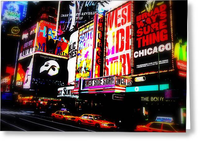 Broadway Musical Greeting Cards - On Funky Broadway  Greeting Card by Funkpix Photo Hunter
