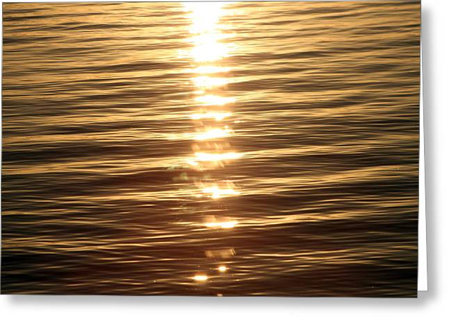 """sunset Photography"" Greeting Cards - On golden lake Greeting Card by Evelyn Patrick"