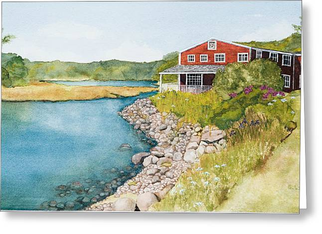 On Grist Mill Pond Greeting Card by Gregg Litchfield