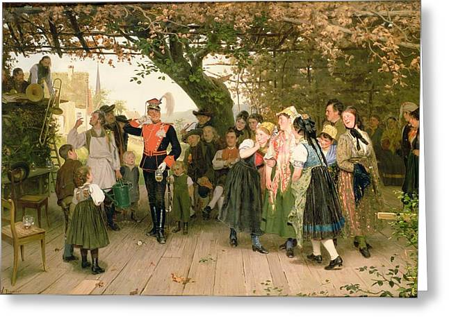 Villager Greeting Cards - On Leave Greeting Card by Wilhelm Zimmer