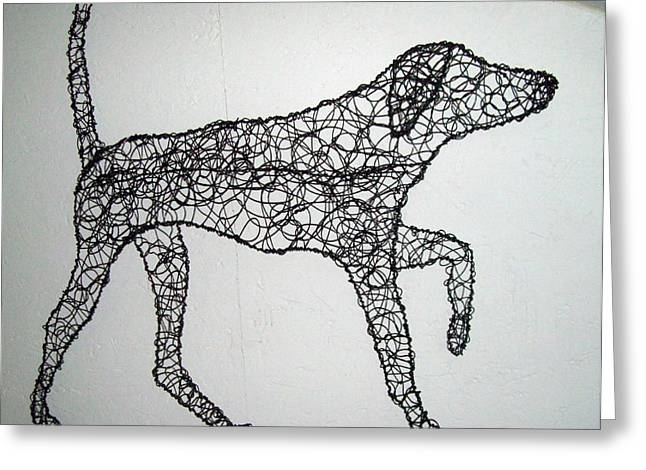 Canine Sculptures Greeting Cards - On Point Greeting Card by Charlene White
