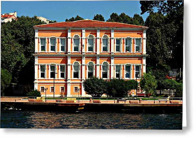 Bosphorus Greeting Cards - On the Banks of the Bosphorus 1 Greeting Card by Dean Harte