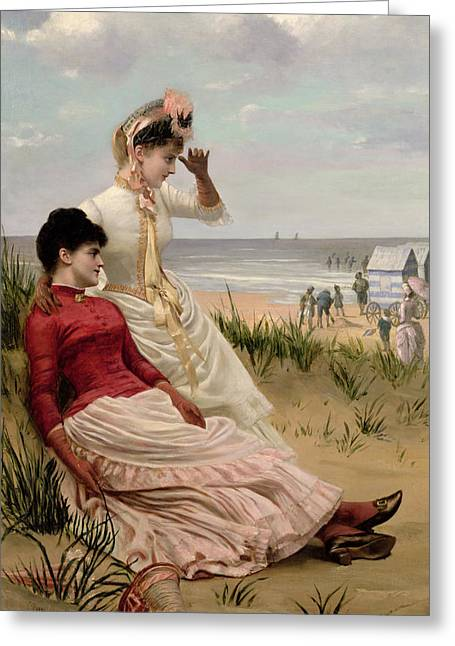 On The Beach Greeting Cards - On the Beach Greeting Card by George van den Bos