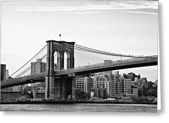 On the Brooklyn Side Greeting Card by Bill Cannon