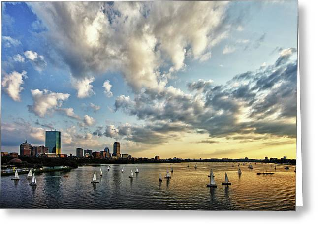 Charles River Greeting Cards - On The Charles II Greeting Card by Rick Berk