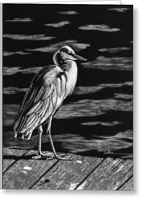 Diane Cutter Greeting Cards - On the Dock in the Bay Greeting Card by Diane Cutter