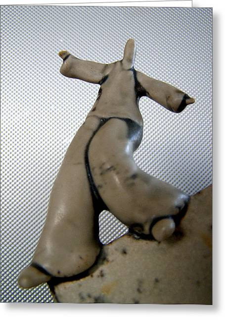 Dancers Ceramics Greeting Cards - On the edge Greeting Card by Darko Beranovic