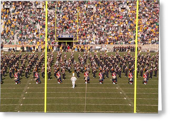 Marching Band Greeting Cards - On the Field Greeting Card by David Bearden