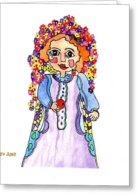 Colorfull Hair Greeting Cards - On The Good Side Greeting Card by Connie Valasco