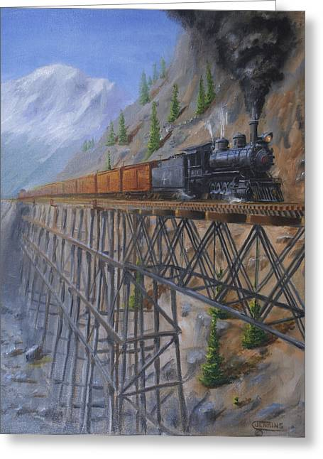 Train Bridges Greeting Cards - On the High Line Greeting Card by Christopher Jenkins