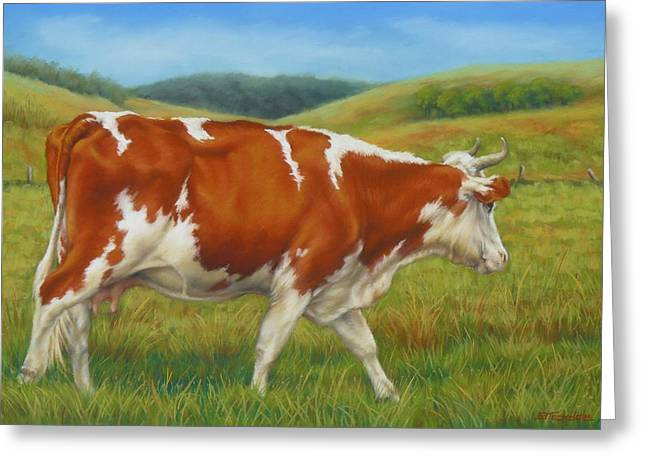 Countrylife Greeting Cards - On The Moove Greeting Card by Margaret Stockdale