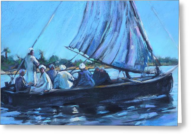 Queen Pastels Greeting Cards - On the Nile Greeting Card by Joan  Jones