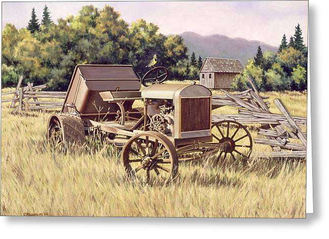 Split Rail Fence Greeting Cards - On The Podium Greeting Card by Richard De Wolfe