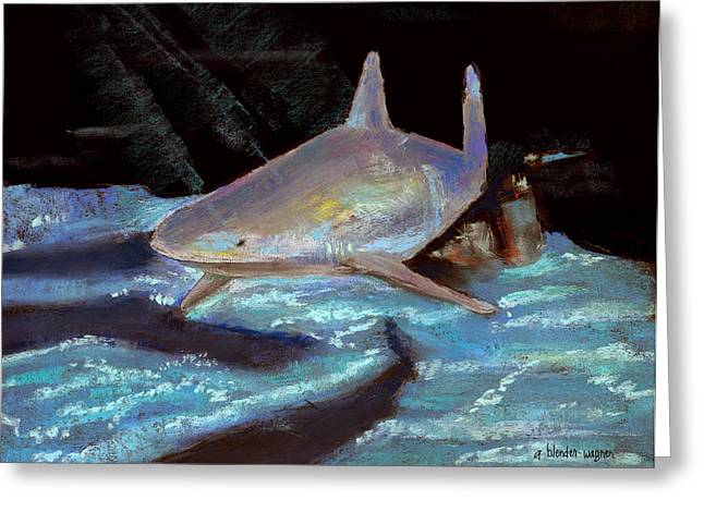 Fish Pastels Greeting Cards - On The Prowl Greeting Card by Arline Wagner