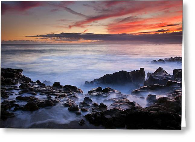 Kauai Greeting Cards - On the Red Rocks Greeting Card by Mike  Dawson