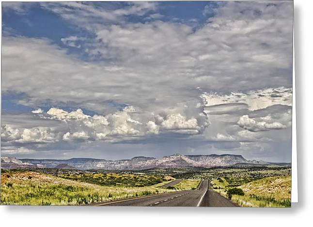 Sedona Mountains Greeting Cards - On The Road Again  Greeting Card by Saija  Lehtonen