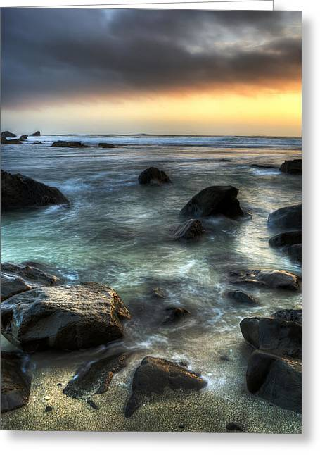 Half Moon Bay Digital Greeting Cards - On The Rocks Greeting Card by Alex Shamis
