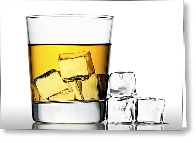 Booze Greeting Cards - On the Rocks Greeting Card by Gert Lavsen