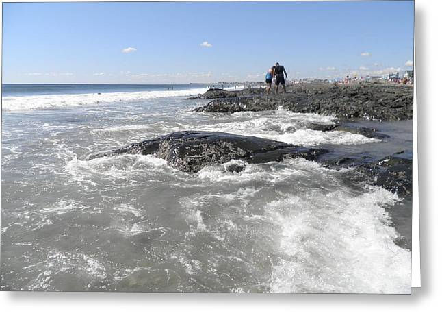 On The Rocks Greeting Card by Kate Gallagher