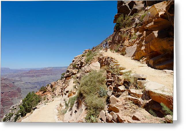 South Kaibab Trail Greeting Cards - On the South Kaibab Trail Greeting Card by Julie Niemela
