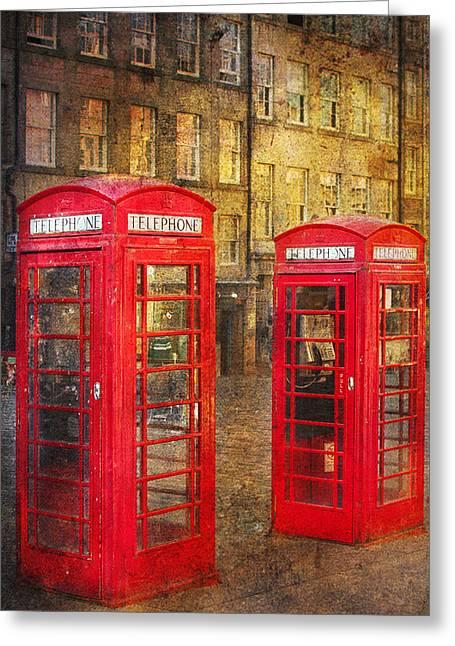 Vinatge Greeting Cards - On the streets of Edinburgh  Greeting Card by Svetlana Sewell