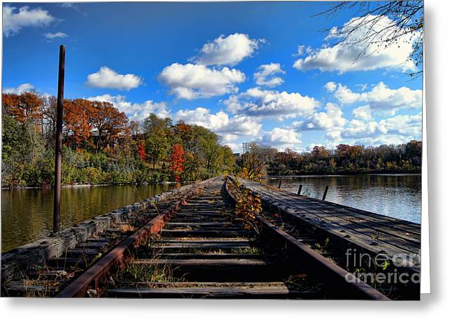 Appleton Wi Greeting Cards - On The Tracks Greeting Card by Craig Ebel
