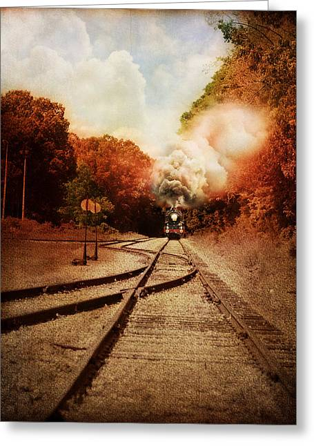 Industrial Landscape Greeting Cards - On The Tracks Greeting Card by Jai Johnson
