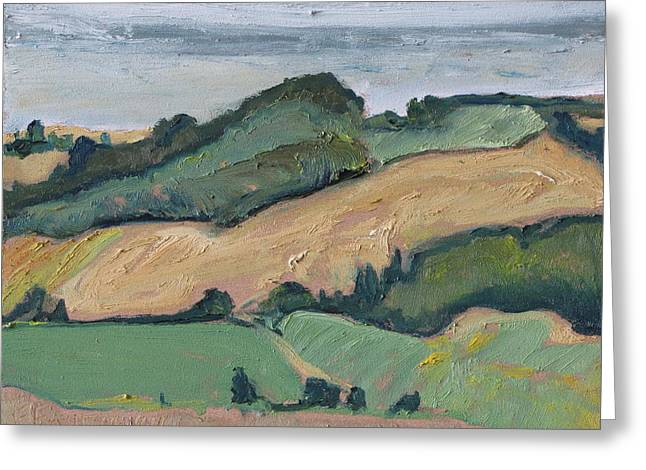 On The Valley Greeting Card by Francois Fournier