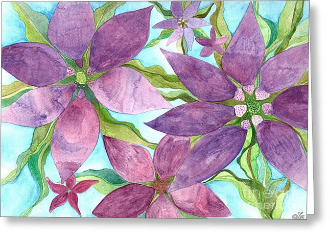 Floral Greeting Cards - On The Vine Greeting Card by Sue Gardiner
