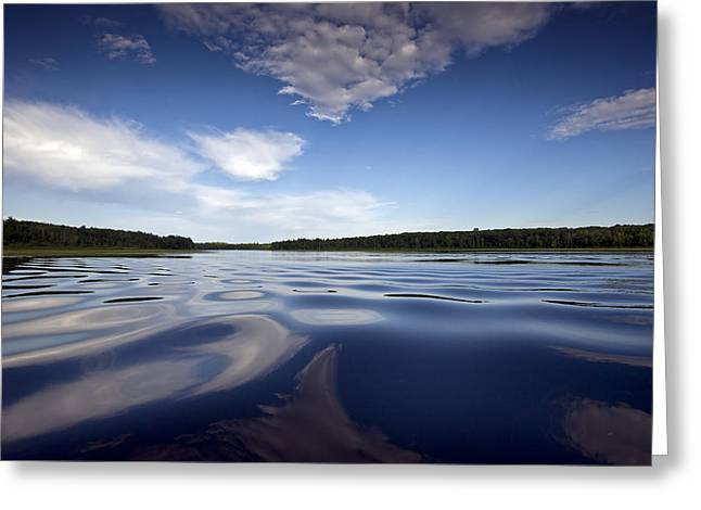 Camelot Photographs Greeting Cards - On the water Greeting Card by Gary Eason