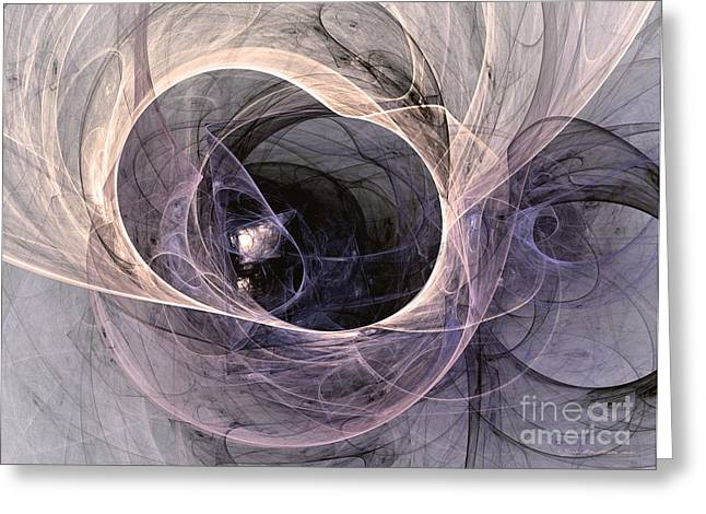 Interior Still Life Mixed Media Greeting Cards - On the way home - abstract art Greeting Card by Abstract art prints by Sipo