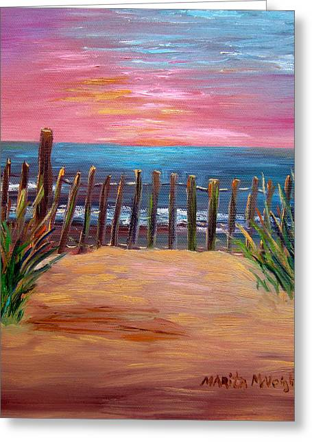 Sand Dunes Paintings Greeting Cards - On The Way To Cape May Greeting Card by Marita McVeigh