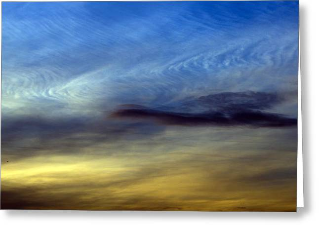 Reverence Greeting Cards - On the wings of a cloud Greeting Card by Steven Poulton