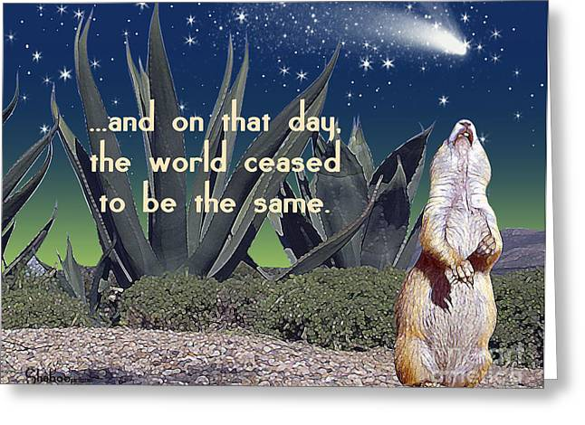 Groundhog Digital Greeting Cards - On This Day Greeting Card by Shaboo Prints