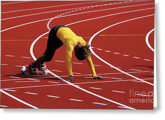 Hurdles Greeting Cards - On Your Mark Greeting Card by Bob Christopher