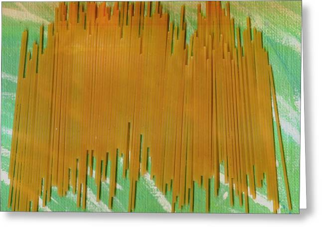Spaghetti Greeting Cards - On Your Wall Popart Greeting Card by Pepita Selles