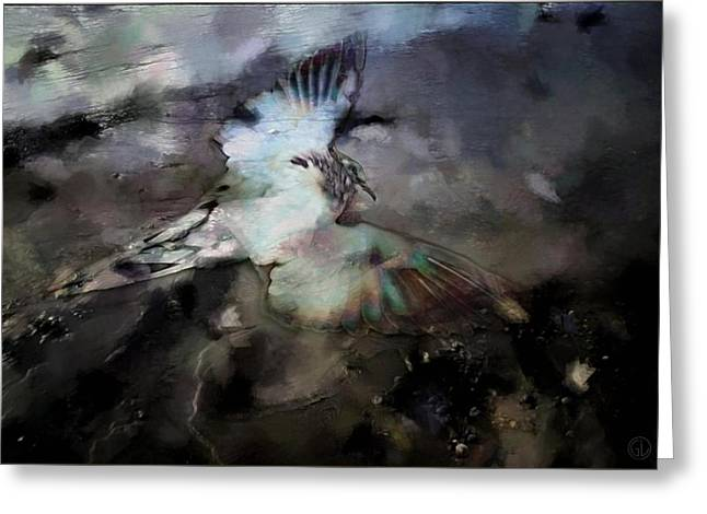 Oily Greeting Cards - Once he flew high Greeting Card by Gun Legler
