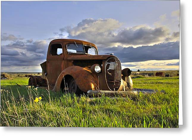 1949 Plymouth Greeting Cards - Once Was Greeting Card by Steve McKinzie