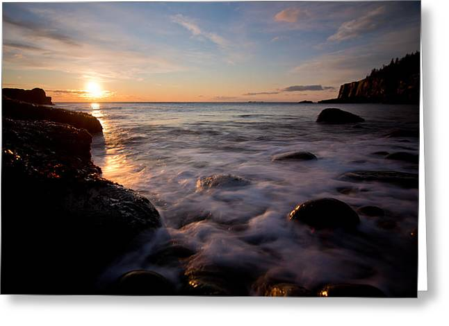Maine Photographs Greeting Cards - One and the Same in Maine Greeting Card by Chad Tracy