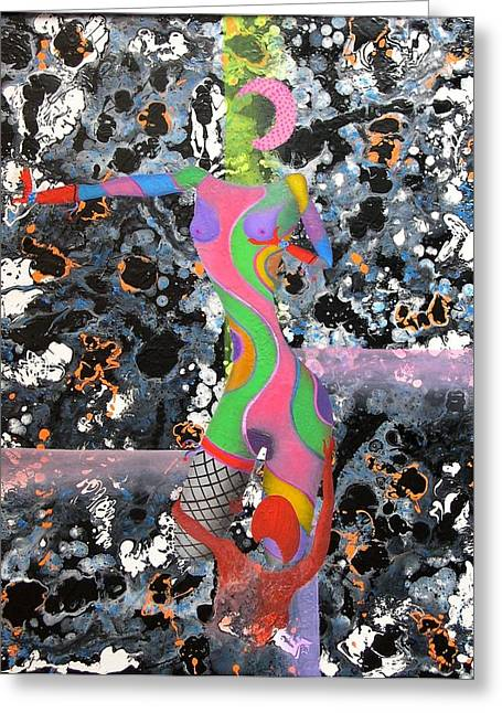 One At A Time Greeting Card by David Mintz