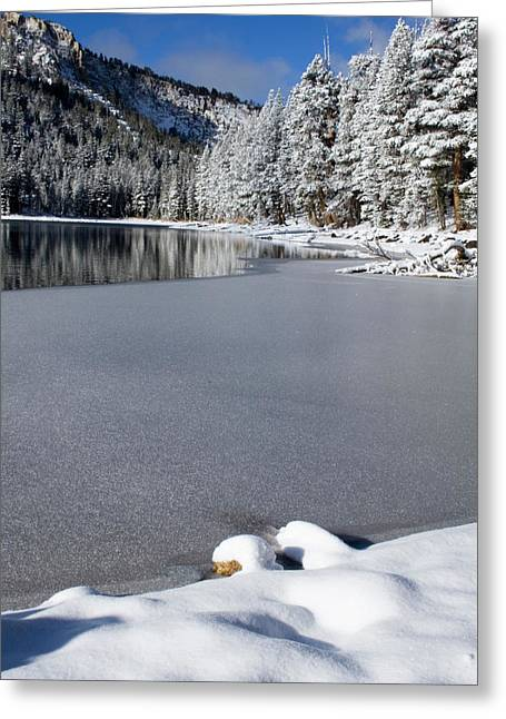 Snow-covered Landscape Greeting Cards - One Cool Morning Greeting Card by Chris Brannen