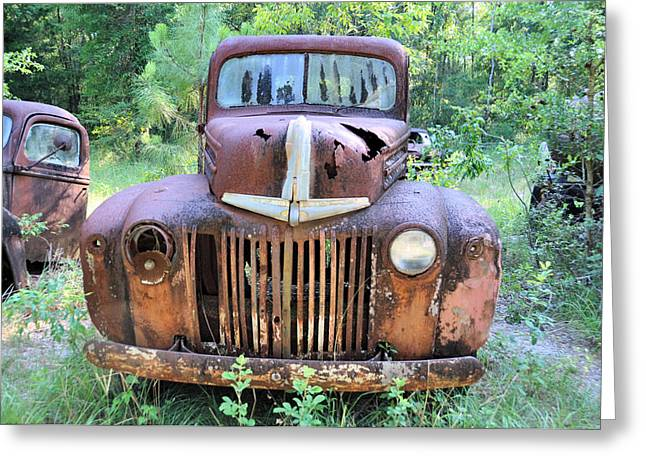 Old Trucks Greeting Cards - One-Eyed Jack Greeting Card by Jan Amiss Photography